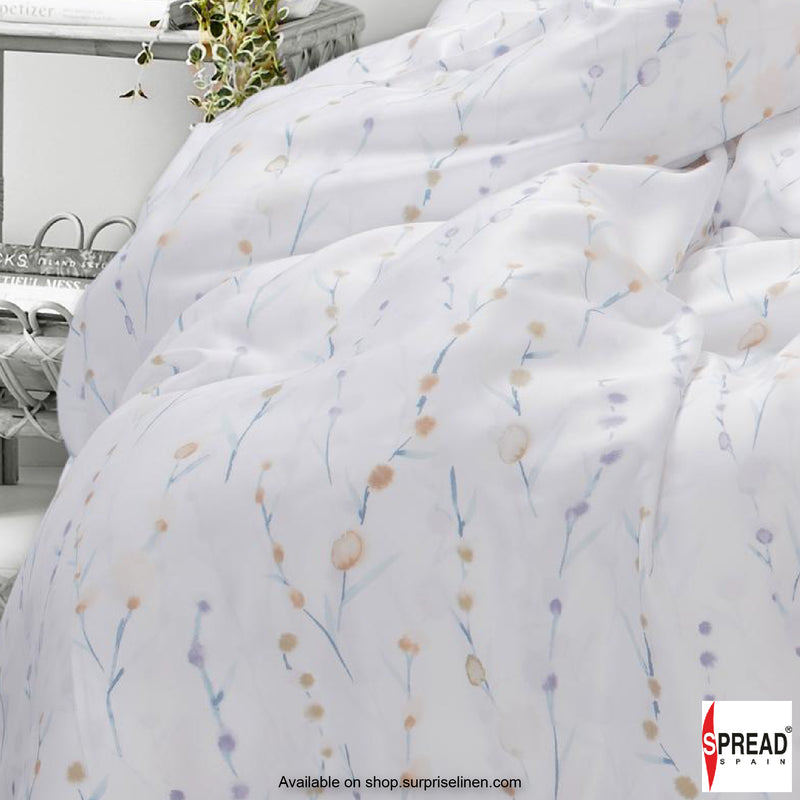 Spread Home - Prints Collection 400TC Bedsheet Set (Blossom White)