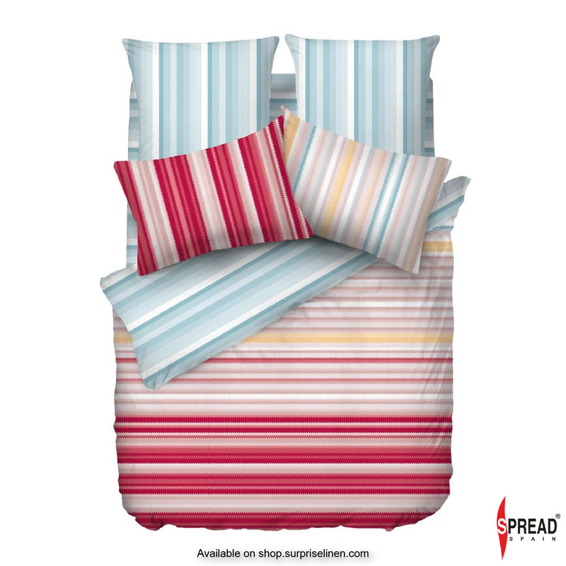 Spread Home - Esprit Prints Collection 400TC Bedsheet Set (Pink & Mist Blue)