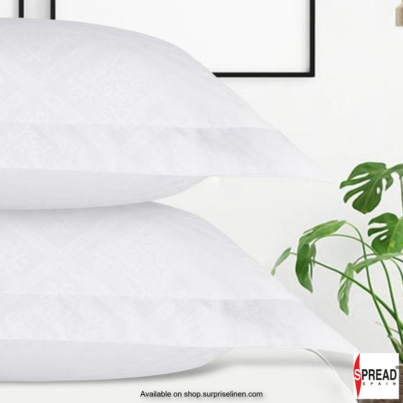 Spread Home - 500 Thread Count Cotton Bedsheet Set - Victorian White