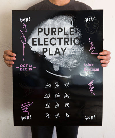 Purple Electric Play (PEP!) Silkscreened Poster - Tanya Rubbak
