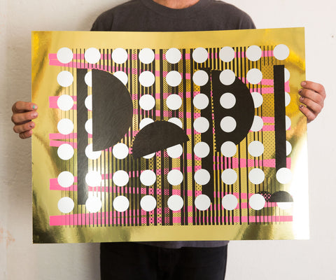 Purple Electric Play (PEP!) Silkscreened Poster - Rosten Woo