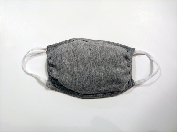 Face Mask, Reusable, Washable, Grey Face Cover, Hand Made in USA