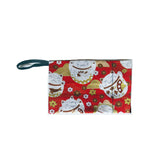 Red Storage Pouch, Lucky Cat