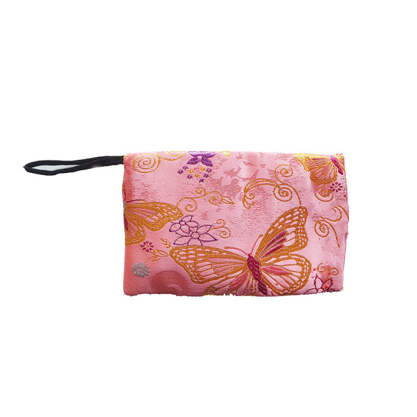 Storage Pouch, Pink Butterfly