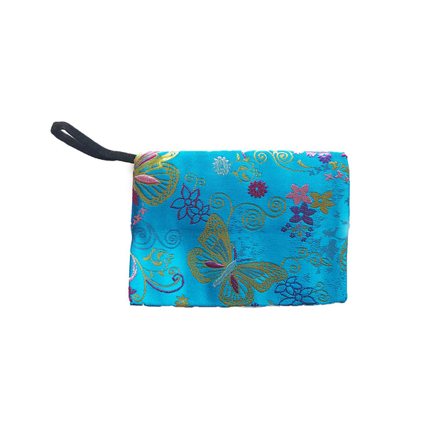 Teal Storage Pouch, Butterfly