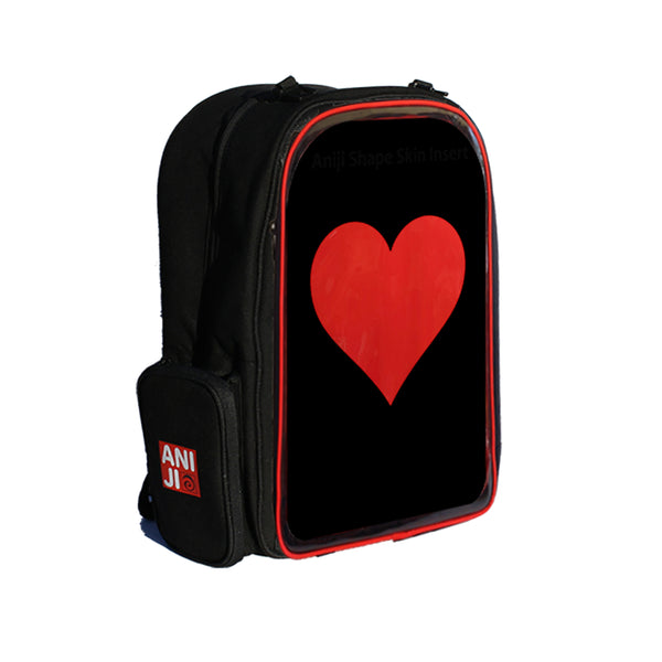 Echo Backback with Plastic Heart Emblem (15.5 inch)
