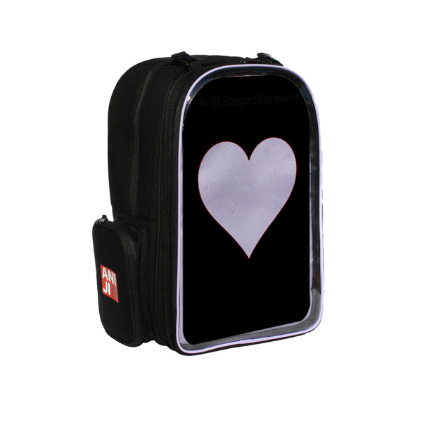 "Echo Backback with Emblem, Plastic Heart Insert, 15.5"" (Choose from 6 Colors)"