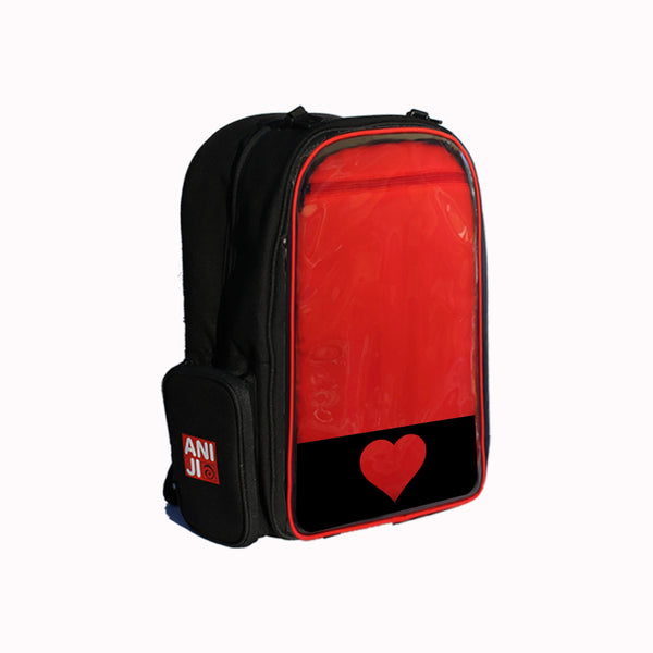 Echo Backpack with Plastic Heart Emblem 4""