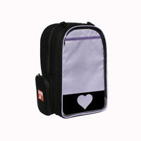 "Echo Backpack with Emblem, Plastic Heart Insert, 4"" (Choose from 6 Colors)"
