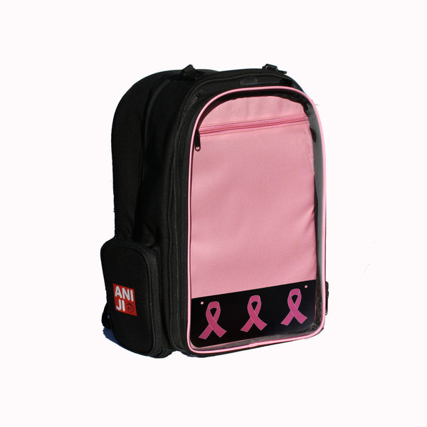 Echo Backpack with Plastic Pink Ribbons Emblem 4""
