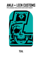 Aniji x Leen Customs Exclusive Teal Echo Pin Bag Skin Insert  (Pre-Order)