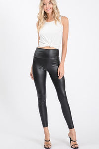 Girly Faux Leather Leggings