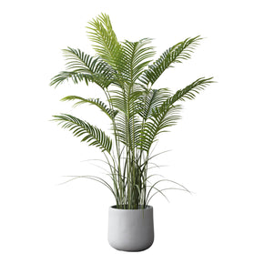 "Towering 49"" Artificial Palm on White Background"