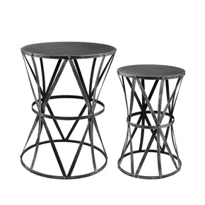Geometric Twin Accent Tables