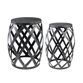 Drum Shaped Accent Tables