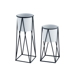 Geometric Planter Set-Gray