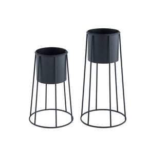 Contemporary Planter Set-Black