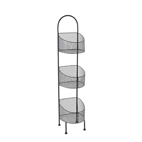 3 Tier Utility Basket-Black