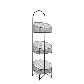 3 Tier Wire Mesh Basket-Black