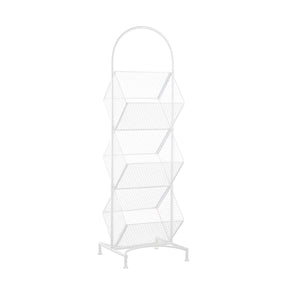 3 Tier Slanted Wire Rack-White