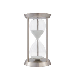 Grand Decorative Hourglass-Silver