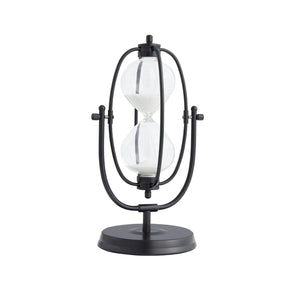 Oval Decorative Sand Timer-Black