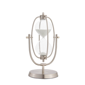 Nautical Decorative Sand Timer-Silver