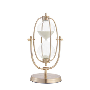 Oval Decorative Sand Timer-Gold