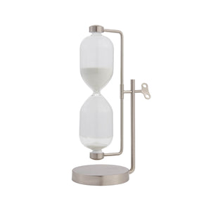 Swiveling Decorative Sand Timer-Silver