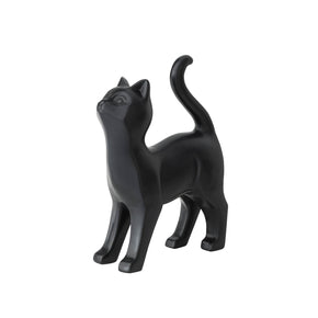 Playful Black Cat Figurine