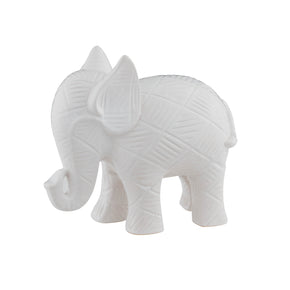 Textured Elephant-White