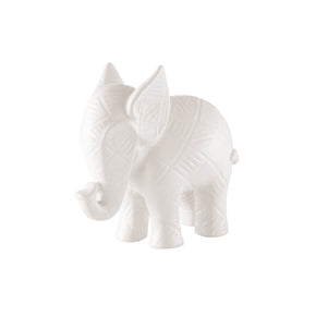 Textured Baby Elephant-White