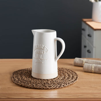 Farmers Market Embossed Straight Pitcher