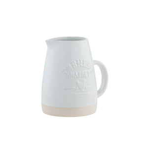 Farmers Market Embossed Tapered Pitcher