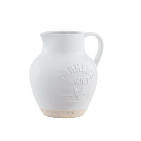 Farmers Market Embossed Round Pitcher
