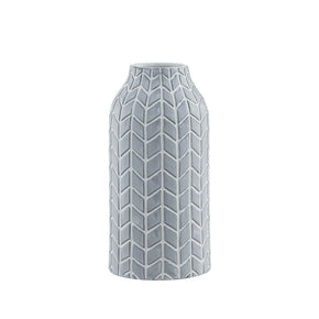Chevron Chic Gray Vase