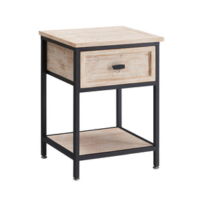 Industrial Single Drawer Side Table