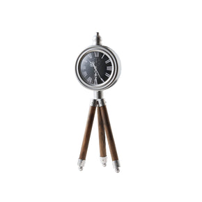 Tripod Timepiece Decor-Black