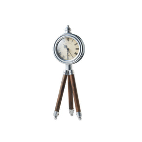 Tripod Timepiece Decor-Cream