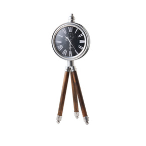Iconic Tripod Timepiece Decor-Black