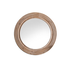 Natural Ringed Round Wall Mirror