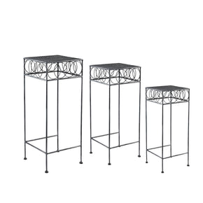 Metal Rings Nested Plant Stand Trio