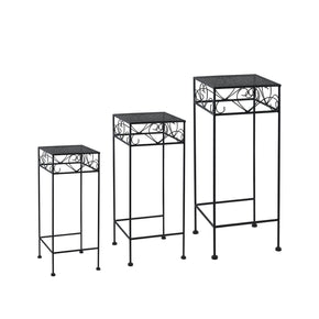 Hearts Nested Plant Stand Trio