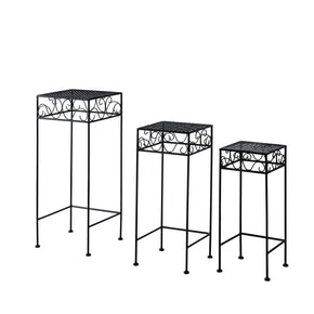 Flourish Black Nested Plant Stand Trio