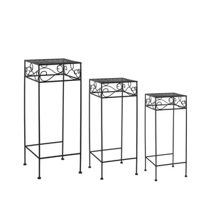 Lattice Square Nested Plant Stand Trio