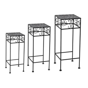 Interlock Square Nested Plant Stand Trio