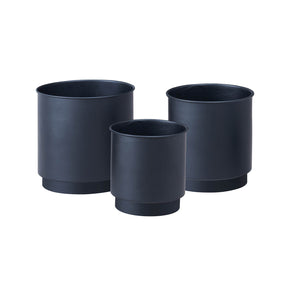 Metal Planter Trio- Black