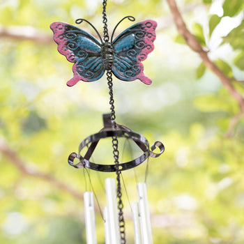 Colorful Butterfly Wind Chime