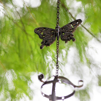 Rustic Butterfly Wind Chime