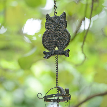 Rustic Owl Wind Chime